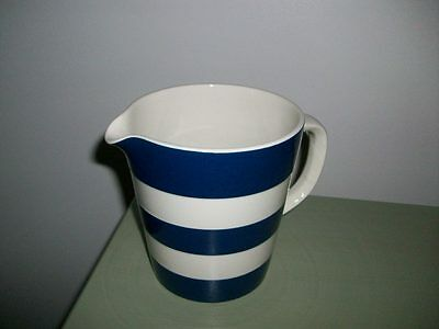 TG Green Cornishware - Large Rare Navy Blue Jug.