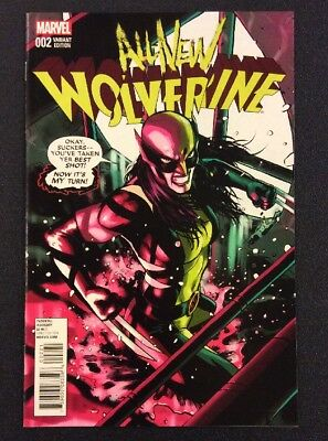 ALL NEW WOLVERINE #2 Comic Book 1:25 RI Variant David Lopez 1st Appearance GABBY