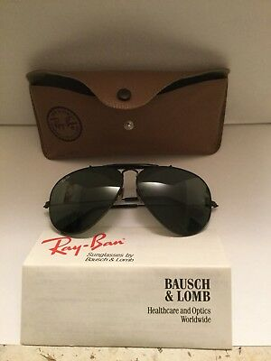 Vintage B&l Rayban L2114 Noas Aviator Green Lenses Made In Usa