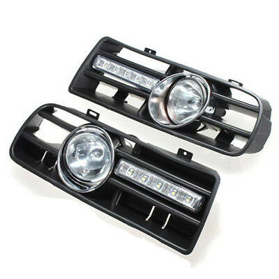 2 X LED Grille Grill Bumper Anti-Fog Lights Headlight for 97-06 VW GOLF 4 M F4N5