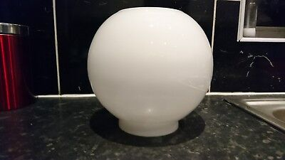 "Vintage Antique White Bowl Oil Lamp Shade 4""fitting"