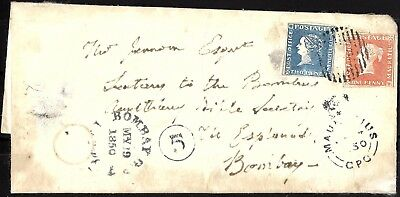 756 - Mauritius - 1850 - Cover To Bombay - Forgery - Fake - Faux