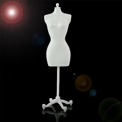 Doll Garment Clothes Dress Display Stand Shelf For Barbie Doll Baby White Holder