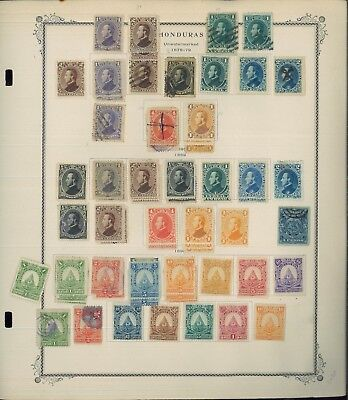 1865-1956 Honduras Mint & Used Postage Stamp Collection Album Pages Value $390