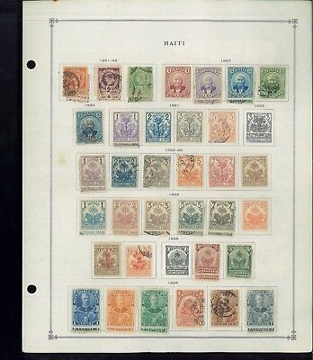 1881-1959 Haiti Mint & Used Postage Stamp Collection on Album Pages Value $432
