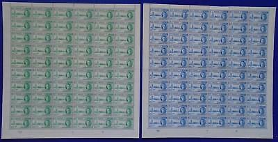 1946 Malta KGVI VICTORY FULL SET Sheets 2V MNH + Plate Numbers SG:232/3