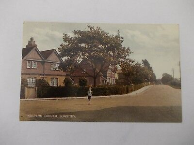old Post card Keepers Corner, Burstow, Horley