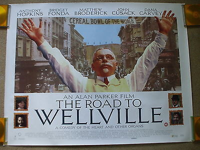 THE ROAD TO WELLVILLE (1994) Original UK Quad Movie Poster Alan Parker ROLLED