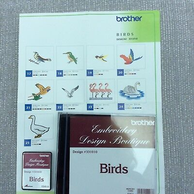 Brother Embroidery Card - Birds