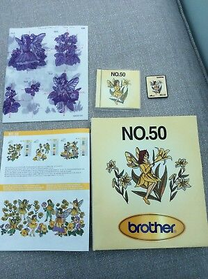 Brother Embroidery Card - No 50 - Fairies