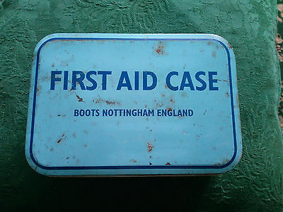 Vintage Boots First Aid Tin with original contents