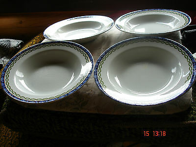 4 Vintage Soup/pudding bowls Doulton Sorrento ( possibly Over 100years old )
