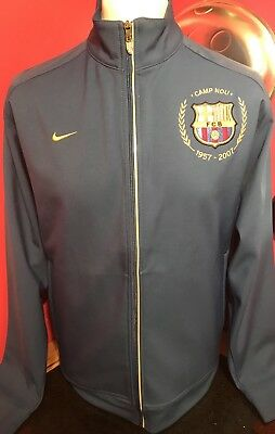 Barcelona Track Top Jacket Adult Medium 50th Anniversary CAMP NOU 1957-2007