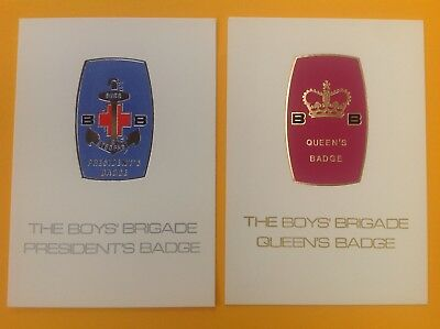 Postcards Queens Badge, President's Badge Award, The Boys' Brigade, job lot of 2