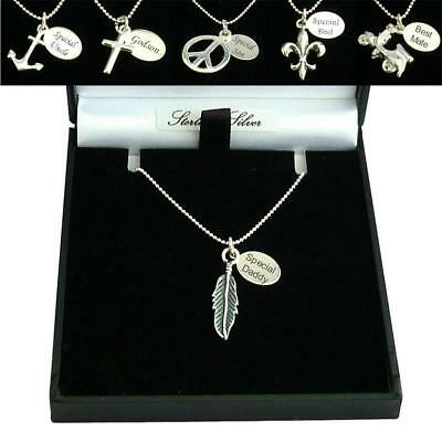 Sterling Silver Necklaces for Men, Personalised with Engraving for Dad, Son etc