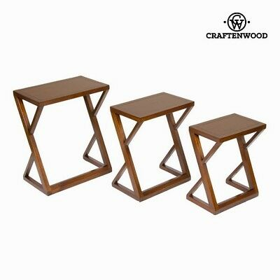 Lot de 3 tables gigognes - Collection Serious Line by Craften Wood