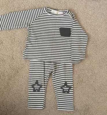 Zara Baby Boy Striped Legging and Top Outfit age 9-12 months