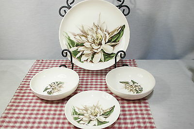LOT of Santa Anita Ware Night Blooming Cereus 1 Dinner, 1 B&B, 2 Soup Bowls