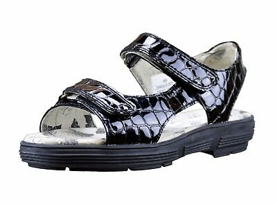 Ladies Golfstream Shoes Two Strap Faux Croc Black Golf Sandal Size 9 New