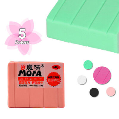 60g POLYMER MODELLING - MOULDING OVEN BAKE CLAY PASTEL  5 Colors
