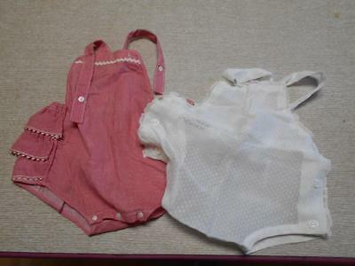 Vintage Lot Of 2 Little Girl's Rompers..child Or Large Doll