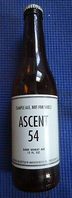 Ascent 54 Dark Wheat Ale collectible bottle last known existing 2006 rare find