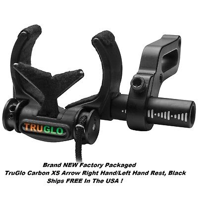 TruGlo TG625B Carbon XS Arrow Right Hand/Left Hand Rest, Black  NEW Ships FREE