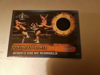 TOPPS SLAM ATTAX 10th EDITION AUTHENTIC RING MAT MEMORABILIA ALPHA TAKE OVER