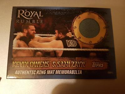 TOPPS SLAM ATTAX 10th EDITION AUTHENTIC RING MAT MEMORABILIA OWENS ZAYN ROYAL