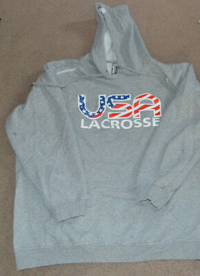 USA Lacrosse Warrior Hoodie Hooded Sweatshirt XL