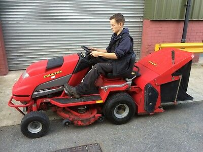 Countax ride on mower sweeper collector C300H hydrostatic garden tractor