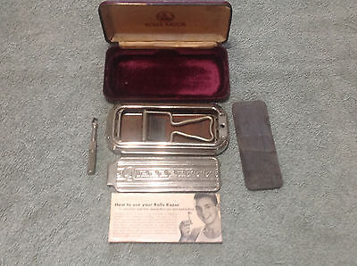 Vintage Rolls Razor with Case, Blade, Hone, Container and Instruction Manual