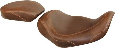 Mustang Wide Tripper Passenger Seat Smooth - Brown 76703