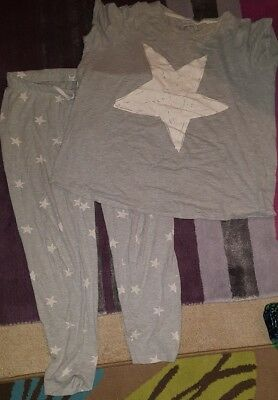 Next Grey Maternity Pyjamas White Stars 14