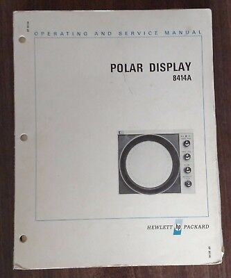 Hewlett Packard 8414A Polar Display Operating And Service Manual