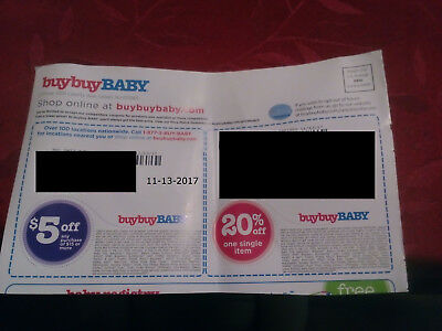 2 20% Off BuyBuy BABY and $5 off $15 coupon expires 11-13 And 11-27