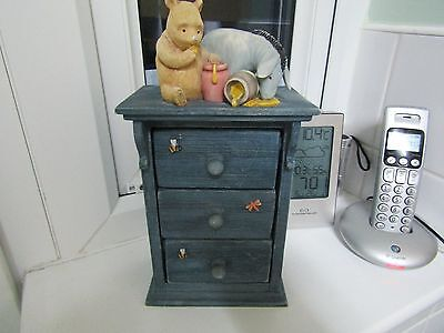 WINIE THE POOH, 3 DRAW CHEST of DRAWS TRINKET BOX..........