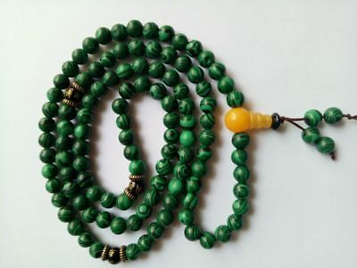 China tibet tibetan malachite buddhist buddha worry prayer bead mala brace