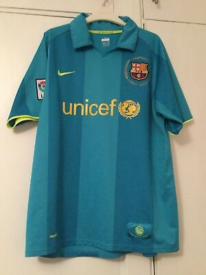 Barcelona Away Shirt 2007 Large