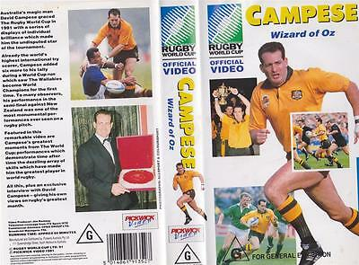 Rugby Union Campese Wizard Of Oz Video Vhs Pal~ A Rare Find