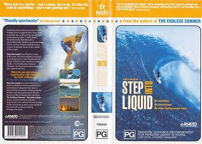 SURFING step into liquid  VHS VIDEO PAL A RARE FIND