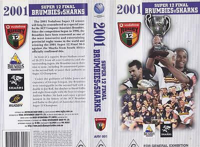 Rugby Union Super 12 Brumbies V Sharks  Video Vhs Pal~ A Rare Find