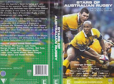 Rugby Union Stars Of Australian Rugby  Video Vhs Pal~ A Rare Find