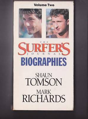 The Surfers Journal  Mark Richards   Shaun Tomson Vhs Video Pal~ Rare Find