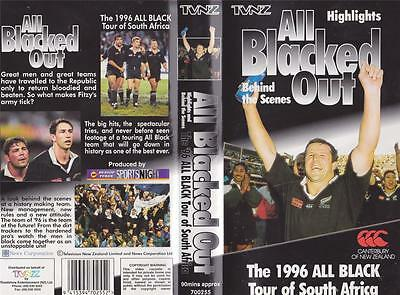 Rugby Union~All Blacked Out 1996 All Black Tour  Video Vhs Pal~ A Rare Find