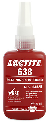 Loctite 638 High Strength Fast Cure Retaining Compound - 50Ml