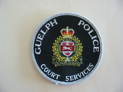 Original Guelph Police, Court Services, Patch, Ontario, Canada