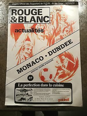 Monaco v Dundee United Uefa Cup 16th September 1981