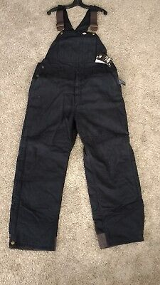 Dickies Sanded Duck Insulated Bib Overall BLACK Brand New L, XL, 2XL Options