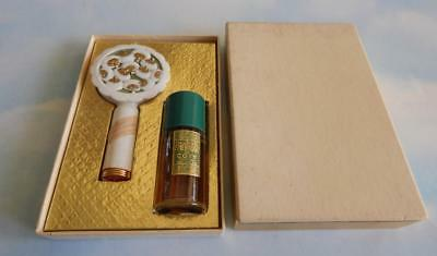 Vintage Coty Set – Emeraude Perfume & Duo Compact of Powder Houppes & Lipstick